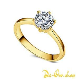 anillo de oro con brillante