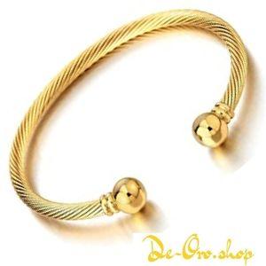 brazalete de oro abierto