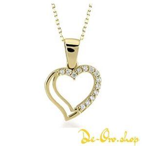 colgante de oro en forma de corazon