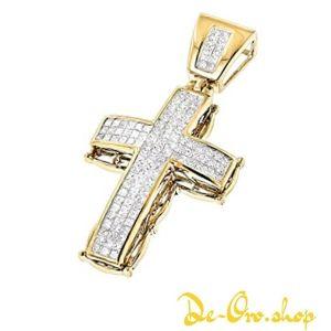 cruz de oro con diamantes