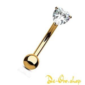 piercing de oro con diamante