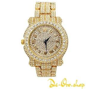 reloj de oro con diamantes