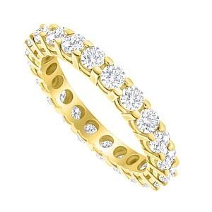 anillo de eternidad o eternity en oro con diamantes