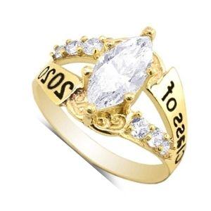 anillo de graduacion de oro con piedras preciosas