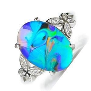 anillo del animo o humor con piedra celeste