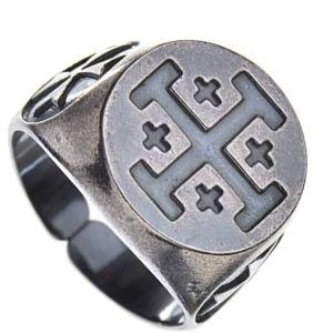 anillo episcopal de pata con cruz