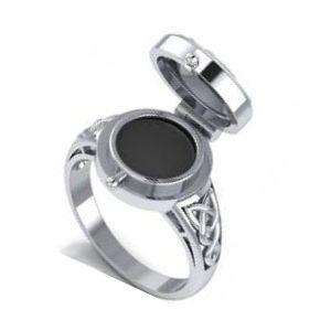anillo secreto de tmbre color plata