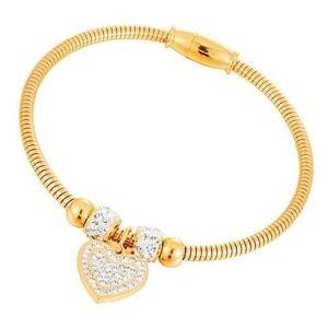 brazalete de oro amarillo para niñas