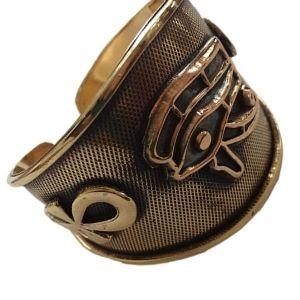 brazalete egipcio de oro amarillo