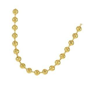 cadena de bolas de oro amarillo