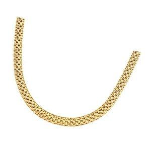 cadena de malla tubular de oro