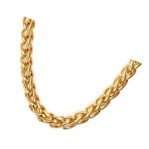 cadena tejido trigo de oro