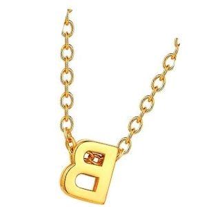 cadena de oro amarillo para niños con letra b