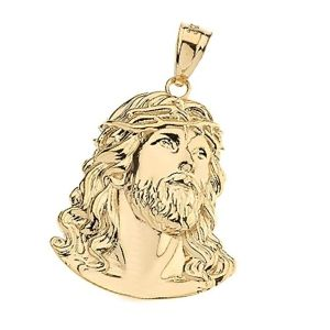 colgante rostro de Jesucristo de oro