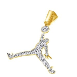 colgante Michael Jordan de oro y diamantes
