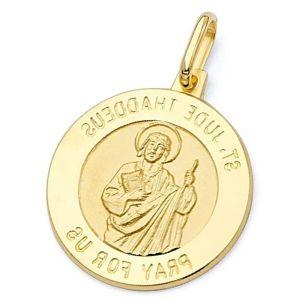 colgante de san Judas Tadeo de oro