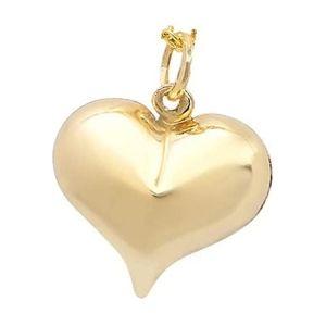 colgante corazón de oro amarillo