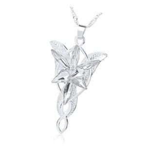 colgante arwen estrella del atardecer de oro blanco