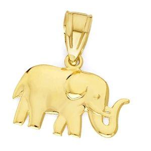 colgante elefante de oro amarillo