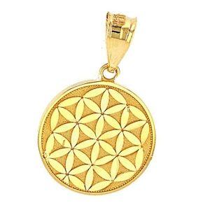 colgante flor de la vida de oro