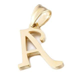 colgante letra a de oro