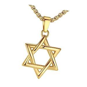 colgante judío estrella de David de oro