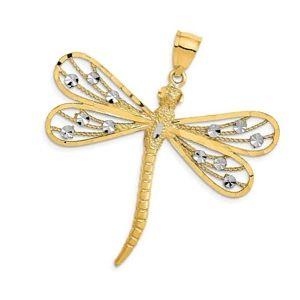 colgante libelula de oro y diamantes