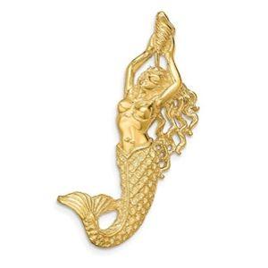 colgante sirena de oro macizo