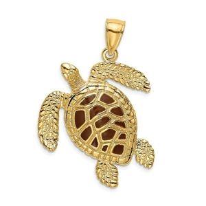colgante tortuga de oro macizo