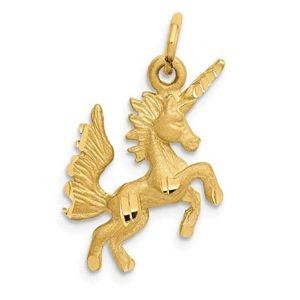 colgante unicornio de oro
