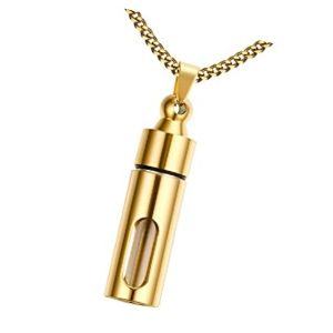 colgante urna cilindro de oro
