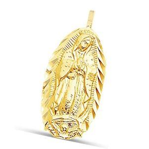 colgante virgen maria de oro macizo