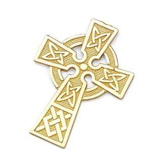 cruz celta de oro amarillo