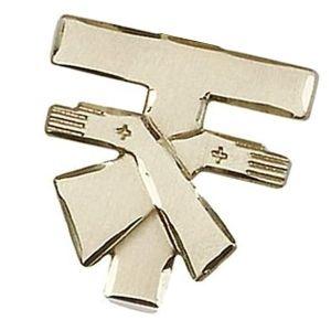 cruz franciscana de oro