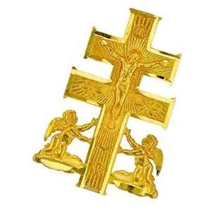 cruz de caravaca de oro amarillo