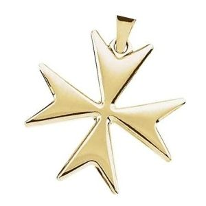 cruz de malta de oro amarillo