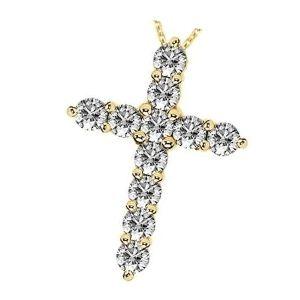 cruz de oro y diamantes