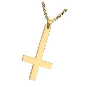 cruz invertida de oro