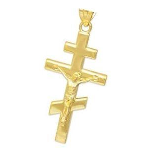 cruz ortodoxa de oro