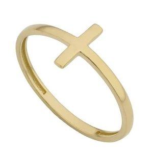 pulsera con cruz de oro