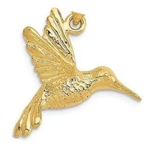 dije de colibri de oro