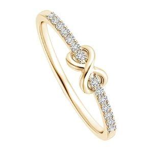 anillo promes de oro con brillantes