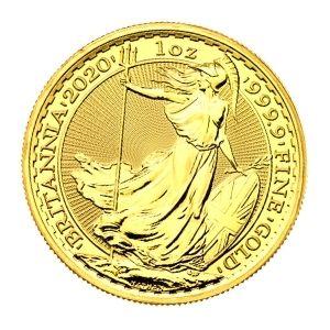 moneda de oro britania