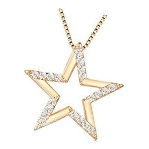 dije de estrella de oro con diamantes