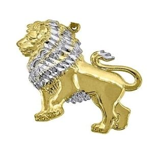 dije de leon de oro y plata