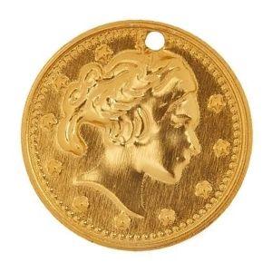 dije de moneda de oro