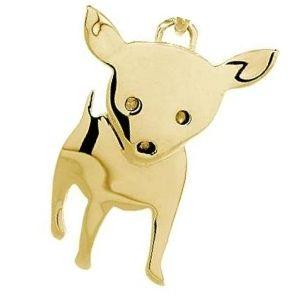 dije de perro chihuahua de oro