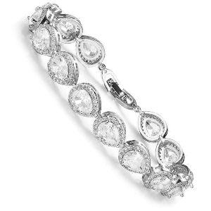 pulsera de boda de diamantes y oro blanco