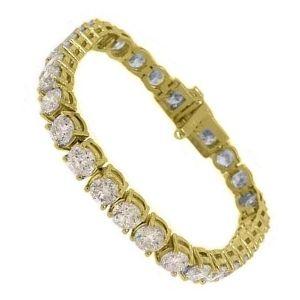 pulsera de oro y diamantes