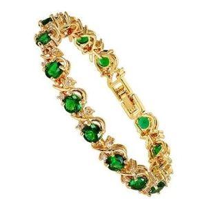 pulsera de esmeraldas y oro